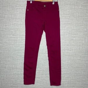Justice Girls Sz 12 Maroon Simply Low Jeggings